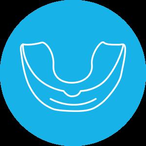 Mouthguard blue